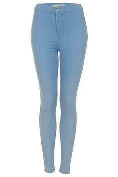 High-waisted moto jeans