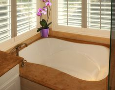 My soaking tub with recirculating hot water... Yes please, with a view to my garden