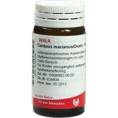 CARDUUS MARIANUS-OXALIS Globuli:   Packungsinhalt: 20 g Globuli PZN: 08784900 Hersteller: WALA Heilmittel GmbH Preis: 5,99 EUR inkl. 19 %…