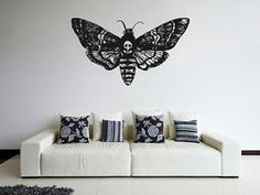 ik1123-Wall-Decal-Sticker-death-039-s-head-moth-butterfly-bedroom