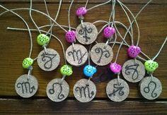 Segni zodiacali pirografo