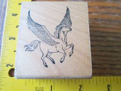 Rubber Stamp Horse Wings Flying Pegasus Mythical | eBay