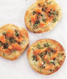 Smoked Salmon Pizzettes recipe