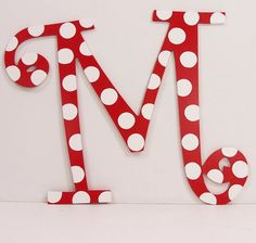 Items similar to Customized Hanging Letters - Polka Dots and Zebra prints on Etsy