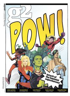 Guardian g2 cover: POW! Attack of the feminist superheroes.