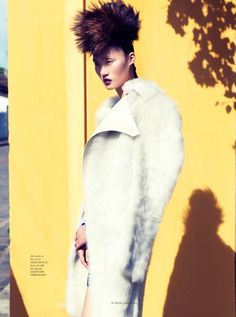 "Lina Zhang | ""Fashionable in Fur""  Elle Vietnam October 2013 
