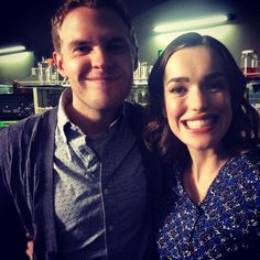 These two are really happy we're back tonight. || Elizabeth Henstridge, Iain De Caestecker || Instagram || #cast
