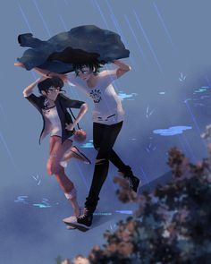 """hazenheim: """"️ sometimes a little disorder can be a good thing ️ think luka would be the type to have an umbrella handy when it rains? or is he just like ma-ma-ma-ma-marinette? """""""
