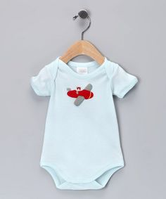 Take a look at this Blue Plane Bodysuit - Infant by Victoria Kids on #zulily today!