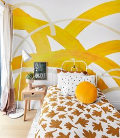 Joy Cho Tween Room Design for Real Simple Home Design A Space, My Design, Design Ideas, The Room Place, Bed Photos, New York City Apartment, Home Learning, Real Simple, Simple House