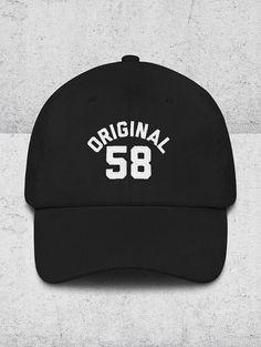 0a9c2b6e53d 60th Birthday Gifts for Men   Women - 60th Birthday Dad Hats - ORIGINAL 58  Baseball Hat - 60th Birth
