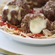 Mozzarella Stuffed Homemade Meatballs