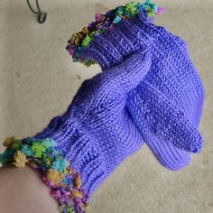 "If your head is in the clouds, your hands should be, too! These mittens are made to match my Head in the Clouds Hood, seen here: www.flickr.com/photos/knitnfrog/322141652/in/photostream/  A nice long wrist ribbing (3"") will cover the gap between your Get your own affordable online shop!"