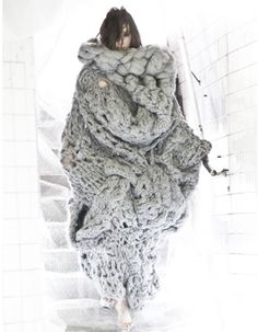 Extreme knitting - a little wild and unsubdued - i like it