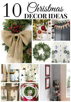 10 Christmas Decor Ideas that are easy and budget friendly. Great inspiration! | On Sutton Place