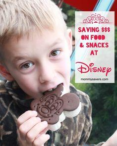 Tips for saving money on snacks and food at Disney #disney #disneyworld