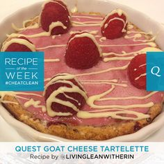 Try this delicious blend of raspberries and goat cheese perfected the #CheatClean way by Erin Woodbury. #onaquest #recipe