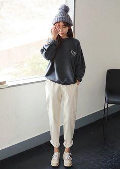 [STYLENANDA] LOOSE FIT CORDUROY PANTS