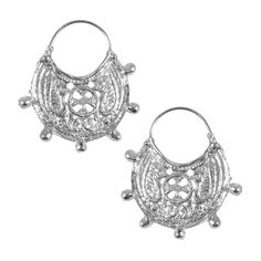 This beautiful pair of earrings is a copy of the original gold earrings, sculpted in hand, that are kept at the Monastery of Kykkos. We created the earrings, inspired by the Byzantine art in Cyprus during the Early Christian - Early Byzantine period (4th - 7th century A.D.). A piece of jewellery made of silver 999°, for the admirers of the Byzantine era. Dimensions: 4 cm x 4,5 cm x 1,5 mm Byzantine Art, Early Christian, Corporate Gifts, Cyprus, Gold Earrings, Sculpting, Personalized Gifts, Period, Sculptures