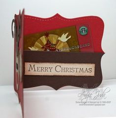 Reindeer Gift Card Holder with Chic n Scratch, Stampin' Up! Demonstrator Angie Kennedy Juda