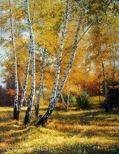 Березы осенью - пейзаж Г. Кириченко