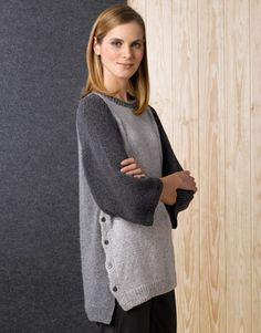 Catalogue Femme Concept 1 Automne / Hiver | 43: Femme Pull | Gris pierre / Gris clair / Gris foncé