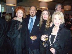 Arlene Dahl, Marc Rosen, Joyce Brooks and Joan Rivers enjoying