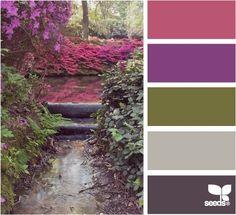 Natuur kan een prachtige inspiratie zijn voor mooie kleurencombinaties
