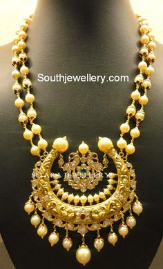South Sea Pearls Necklace with Heavy Pendant