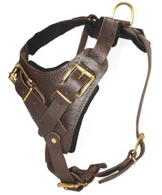 Dean and Tyler The Boss Solid Brass Belt Style Buckles Dog Harness, Brown, Large - Fits Girth Size: 31-Inch to 41-Inch *** Be sure to check out this awesome product.