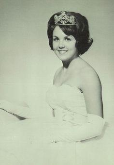 """Carol Mohrbacher - 1964 Homecoming Queen in the """"Falcon"""" yearbook of Van Horn high school in Independence, Missouri.  #VanHorn #yearbook #1964 #HomecomingQueen"""