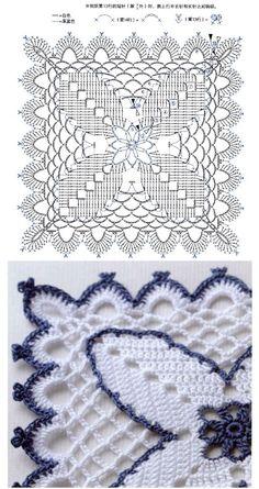 Transcendent Crochet a Solid Granny Square Ideas. Inconceivable Crochet a Solid Granny Square Ideas. Free Crochet Square, Granny Square Crochet Pattern, Crochet Squares, Crochet Tablecloth, Crochet Doilies, Thread Crochet, Crochet Stitches, Crochet Motif Patterns, Crochet Blocks