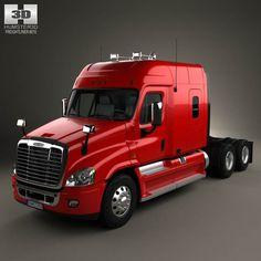 Freightliner Cascadia XT Tractor Truck 2007 by The model was created on real car base. It's created accurately, in real units of measurement, qualitatively and maximally clos Big Rig Trucks, Dump Trucks, New Trucks, Freightliner Trucks, 3d Modelle, Trailers, Heavy Truck, Automobile, Volvo