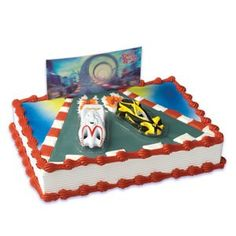 Speed Racer Movie Cake Topper *** Once in a lifetime offer : Baking decorations Cake Decorating Kits, Decorating Tools, Edible Cupcake Toppers, Cupcake Cakes, Cake Icing, Cupcakes, Birthday Cake Gift, Bakery Crafts, Movie Cakes