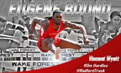 Junior hurdler Vincent Wyatt will compete for #RadfordU Thursday afternoon in the semifinals of the men's 110-meter hurdles at the 2014 NCAA Outdoor Track and Field Championships contested at Hayward Field on the campus of the University of Oregon.