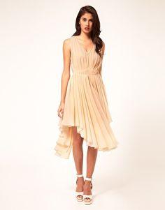 Image 4 of ASOS Chiffon Dress With Gathered Skirt 16