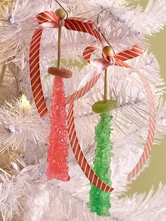 Rock Candy Ornaments