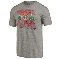 Men's Fanatics Branded Heather Gray Ohio State Buckeyes College Football Playoff 2016 Fiesta Bowl Bound Prime T-Shirt