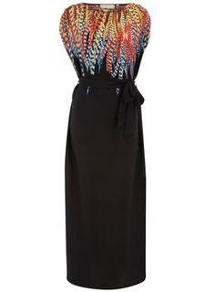 5b55636de99 Feather Print Maxi Dress  plus  size  fashion  maxi  dress Plus Size