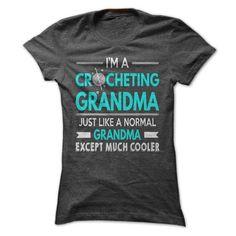 Cool Crocheting Grandma T Shirts, Hoodies. Check price ==► https://www.sunfrog.com/LifeStyle/Cool-Crocheting-Grandma-Shirt.html?41382 $21