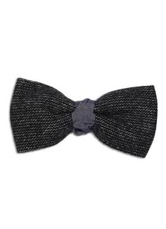 Fancy - Natural Born Elegance x Lanificio Cerruti 1881 Cashmere Black Weave with Black and White Microdot Bow Tie