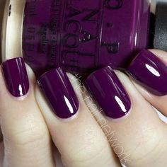Nails ideas purple パープルネイルのアイデア for 2019 Get Nails, Love Nails, How To Do Nails, Pretty Nails, Hair And Nails, Fall Nails, Winter Nails, Summer Nails, Dark Color Nails
