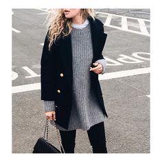 @ganni #blue #coat on @anoukyve #malinwool #wool #jacket #ganni #fall #look #style #fashion #styling #shop www.ganni.com by ganni