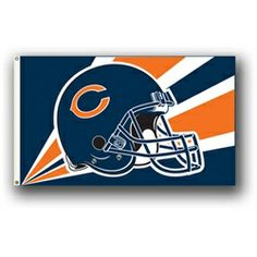 Chicago Bears flag measures 3' x 5'. Made of heavy duty 150 denier Polyester. Has a wide reinforced headband with two grommets for flying. This flag is single-sided so any wording will read incorrectl