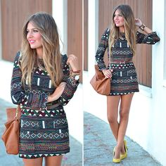 Sheinside Dress, Zara Heels, Parfois Handbag, H&M Necklace