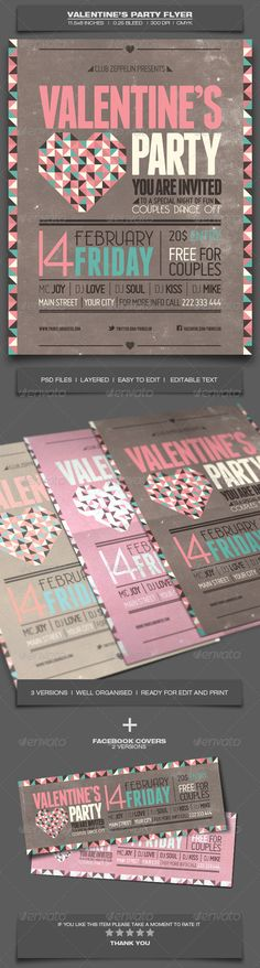 valentine's day brochure templates