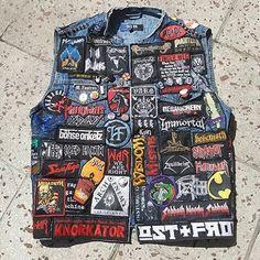Mike from Germany #battlejacket #metalpatches #metaljacket #kutte #bandpatch #bandpatches #battlevest #heavymetal #thrashmetal #denimjacket #patchedvest #deathmetal #metalpatches #metal #wovenpatch #destruction #testament