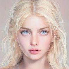 Digital Art Girl, Digital Portrait, Portrait Art, Character Portraits, Character Art, Girl Doctor, Pretty Anime Girl, Beautiful Fantasy Art, Model Face
