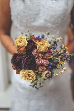 Dried flower bouquet. @Genevieve Makovec, I think I might need you to dry out your roses for me!!! I love, love, love this idea!!