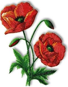 Advanced Embroidery Designs - Prince of Orange Oriental Poppy